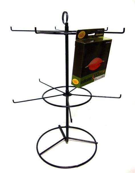 small metal wire tabletop spinner display rack hsx 3789