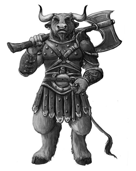 Minotaur download free clip art with a transparent