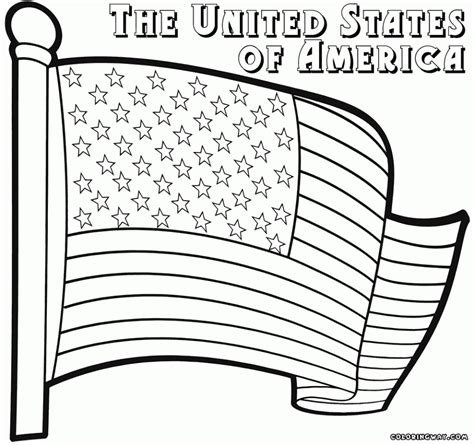 83 coloring page american flag american flag