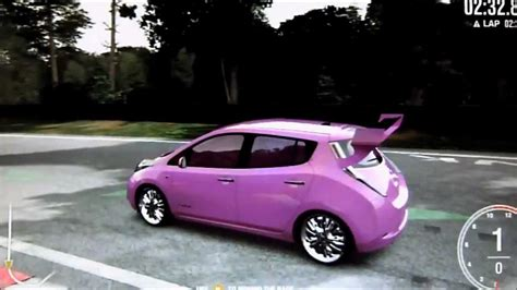 stanced nissan leaf forza 4 nissan leaf pimped out nurburgring speed