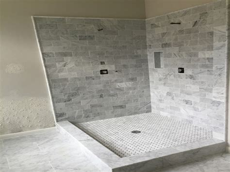 Marble Showers Bathroom Comwhite Carrara Marble Bathroom Crowdbuild For