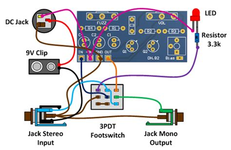 fuzz wiring 3pdt wiring diagram schemes