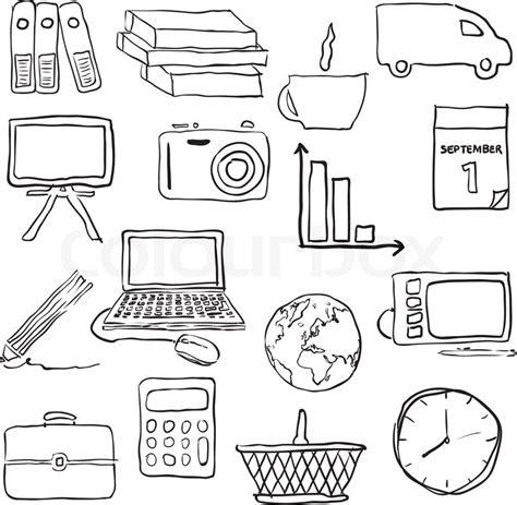 doodle calendar wiki doodle business pictures stock vector colourbox