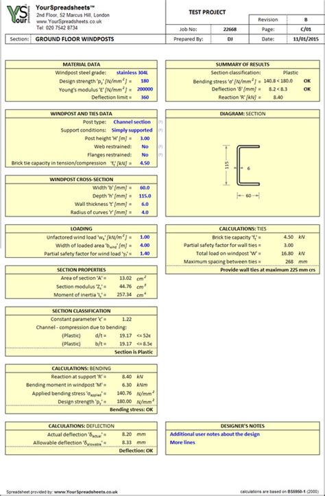 portal frame design to bs 5950 steel spreadsheets