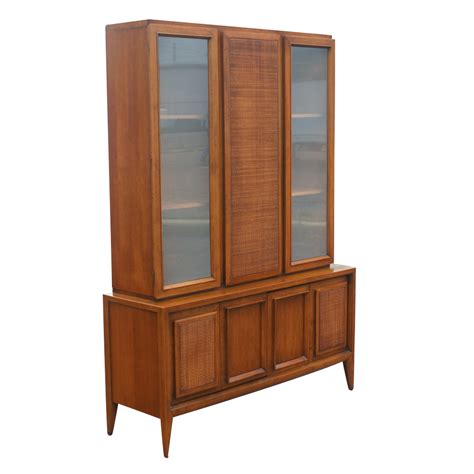 china hutch 52 quot x 73 quot vintage wood glass hutch china cabinet