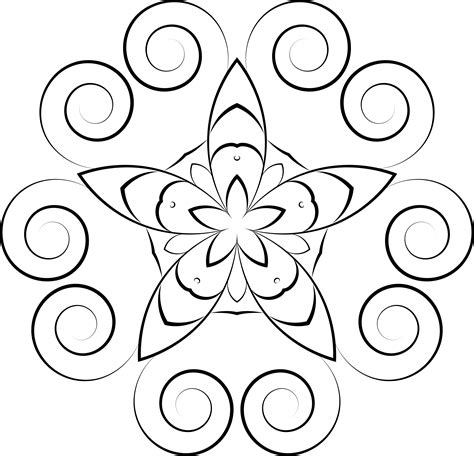 easy floral designs simple floral pattern png