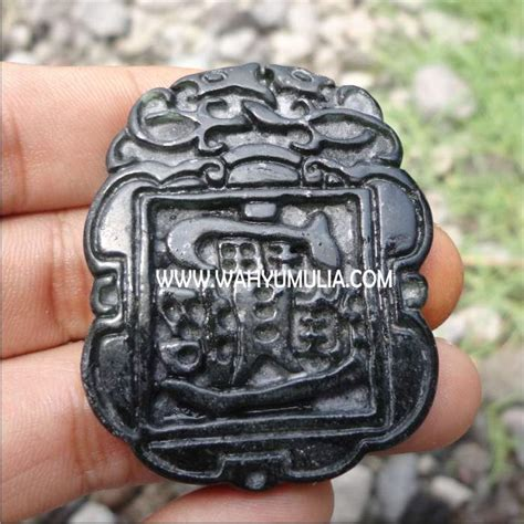 Liontin Giok Hitam A K A Black Jade Aceh Minimalis batu liontin giok hitam kode 178 wahyu mulia