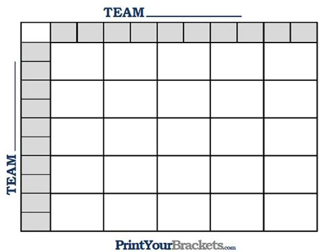 Office Football Pool 25 Squares Printable Ncaa Football Bcs Squares 25 Grid Office Pool