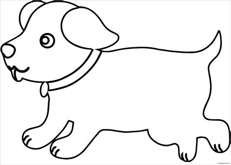 Puppy Outline Dog Puppy Coloring Page Free Coloring Pages Online Outline Pictures