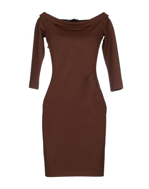 Dress Brown lyst dsquared 178 dress in brown