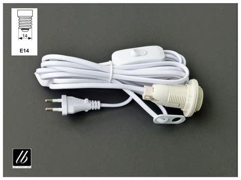 Wandlen Mit Schalter Und Kabel by Anschlusskabel Wei 223 Mit E14 Fassung Schalter Und 4m Kabel