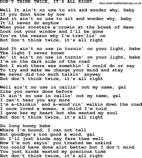 johnny song don t think it s all right lyrics