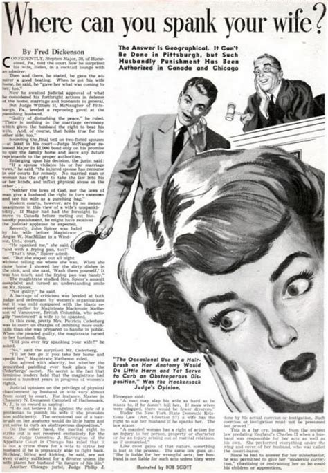 discipline for my wife quot where can you spank your wife quot vintage article from