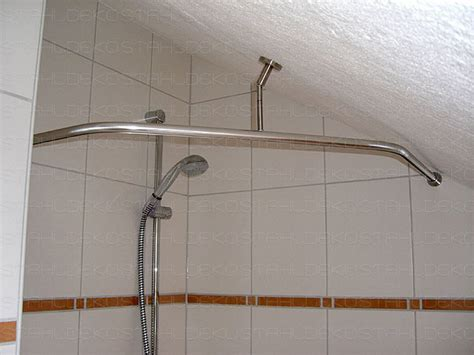 gardinenstange uber eck anbringen runde duschvorhangstange f 252 r viertelkreis badewanne