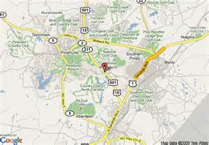 map of springhill suites by marriott pinehurst southern pines
