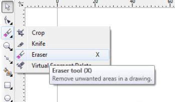 eraser tool in coreldraw x5 tutorial coreldraw x5 membuat efek retak pada tulisan