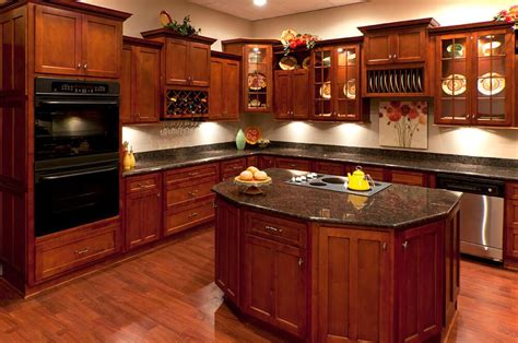 kitchens with cherry cabinets cherry shaker kitchen cabinets rta kitchen cabinets