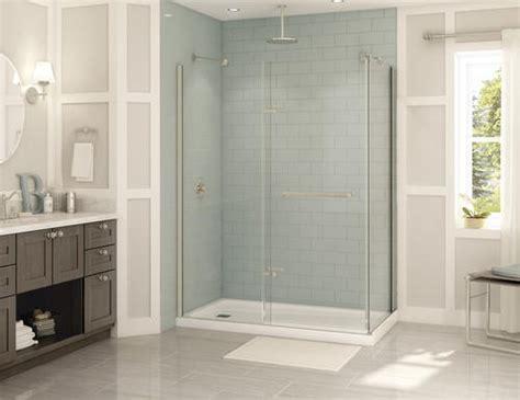 Maax 174 Reveal Pivot 56 Quot 59 Quot 2 Panel Shower Door In Brushed Reveal Shower Door