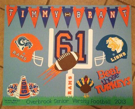 Handmade Poster Ideas - football poster ideas crafts