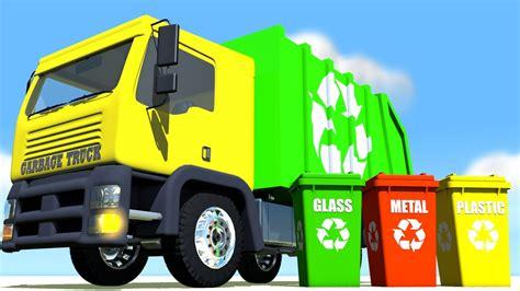 garbage trucks for kids garbage truck glass metal plastic segregation for kids