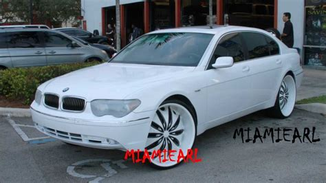 "C2C CUSTOMS  BMW 745 ON 26"" KURV'S ALL WHITE 954 327 1900"