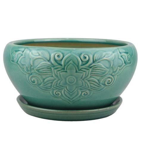 10 Ceramic Flower Pot by Trendspot 10 In Dia Ceramic Florelle Dish Pot Cr00466