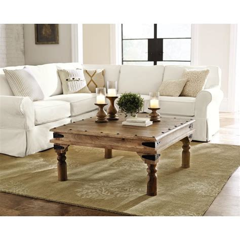 Weathered Coffee Table Home Decorators Collection Fields Weathered Brown Coffee Table 9690300820 The Home Depot