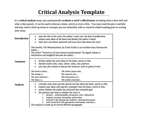 Critical Essay Thesis Statement by Sle Critical Analysis Critical Essay Thesis Statement Thesis Statement Exles Grade Act