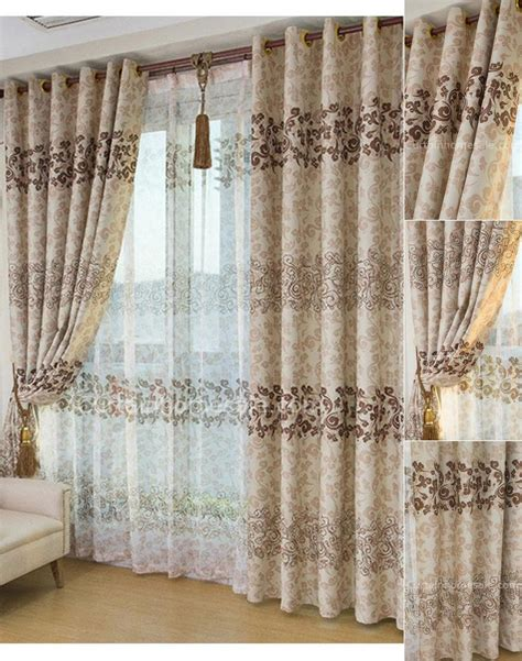asian window curtains asian leaf brown color blackout curtain and window treatments