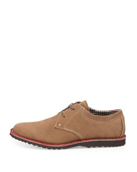 original penguin oxford shoes original penguin nubuck lace up oxford in brown