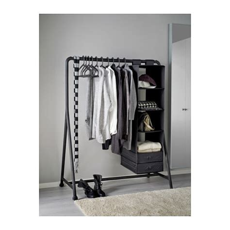stand porta abiti ikea turbo clothes rack in outdoor black 117x59 cm ikea