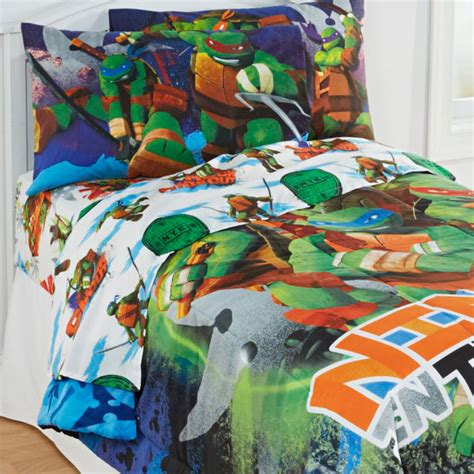 ninja turtle bedding set 4pc teenage mutant ninja turtles twin bedding set
