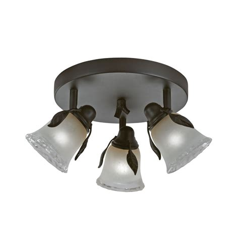 Shop Portfolio Branches 3 Light 9 In Olde Bronze Dimmable Portfolio Ceiling Light
