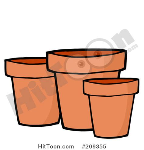 Pot Clay Gold Cactoon clay pot clipart clipart suggest