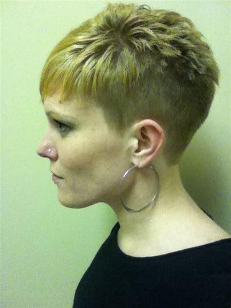 buzzed women haircut back view of short buzzed hairstyles for women photo