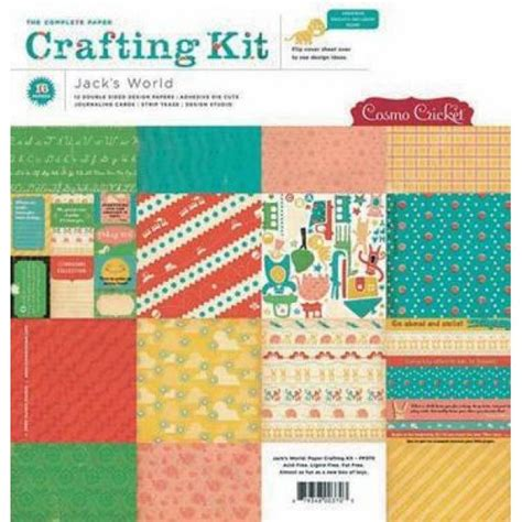 Paper Crafting World - paper crafting kit jacks world 30 5 x 30 5 cm baste