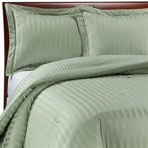 wamsutta 174 damask stripe green comforter set bed bath
