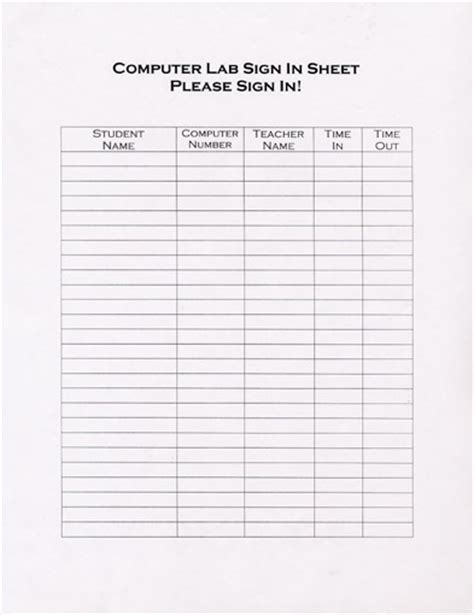 computer lab sign up sheet template best photos of make a sign up sheet free sign up sheet