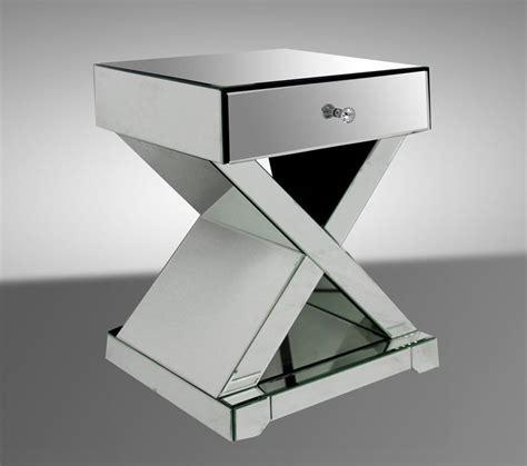 Modern Mirrored Nightstands Xion Contemporary Mirrored Nightstand