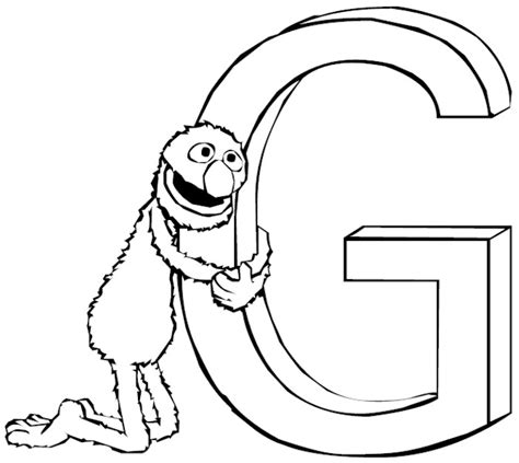 letter g words coloring page coloring pages