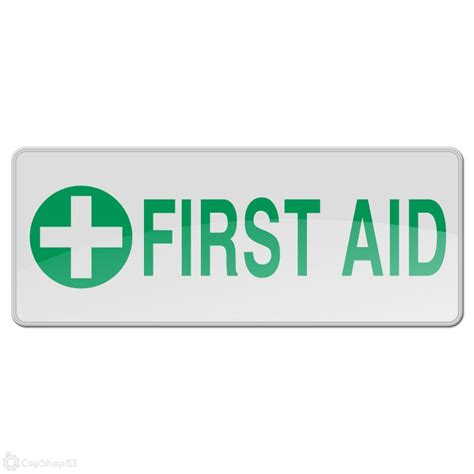 Reflective Sew On Badge   FIRST AID : CopShopUK