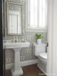 Powder Room Renovations Tone On Tone Powder Room Renovation