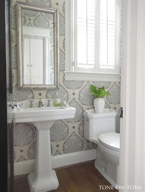 powder room renovation ideas tone on tone powder room renovation