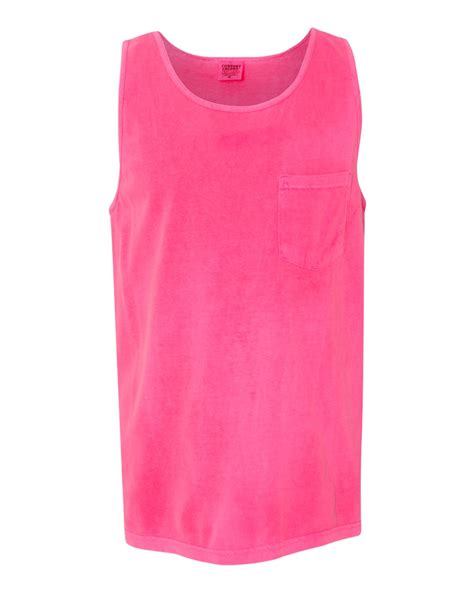 comfort color tank top comfort colors garment dyed tank top with a pocket 9330