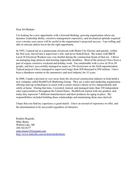 Cover Letter For Looking Mike Burns Cover Letter 2011