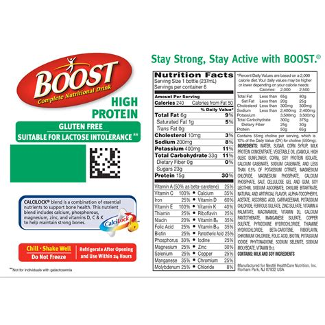 protein nutrition facts the facts about boost shake nutrition facts