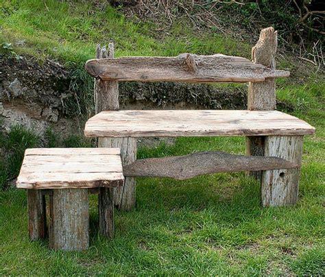 driftwood benches driftwood garden bench
