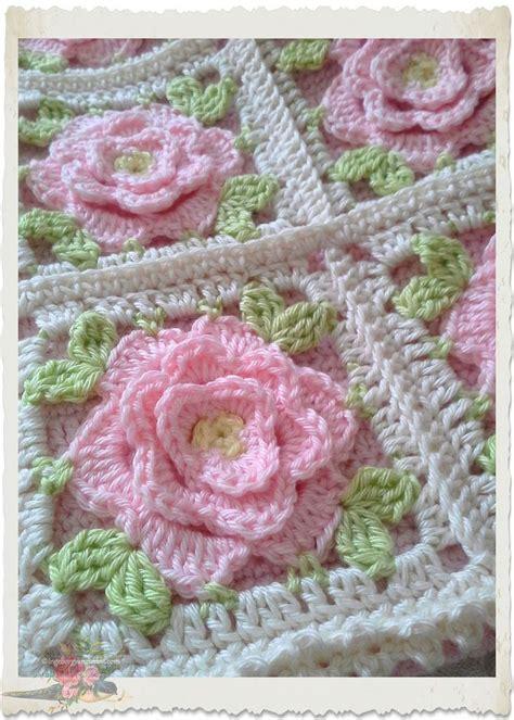 shabby chic pink roses crochet afghans  blankets pinterest shabby chic pink roses