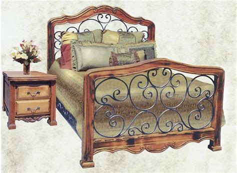 wood and wrought iron bedroom sets king bed queen bed custom bedroom furniture wrought