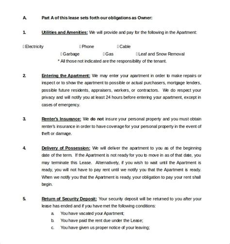 rental agreement template free word lease agreement template word beepmunk